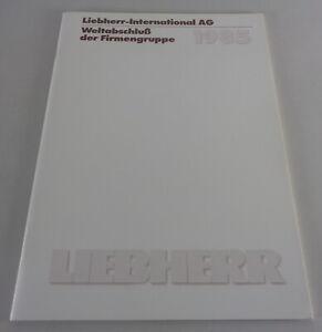 Prospectus/Brochure Liebherr Weltabschluss Der Company Range 1985 From 07/1986