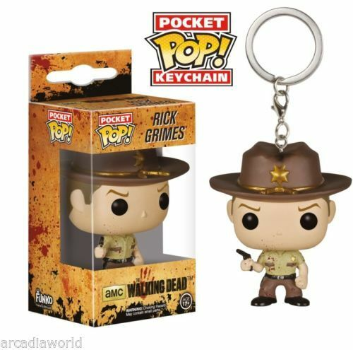 Vinyl KeyChain Rick Grimes Walking Dead Blood Portachiavi Funko Pocket Pop