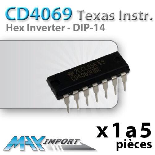 CD4069UBE - Lots multiples prix dégressif CD4069-6 x Portes logiques NOT
