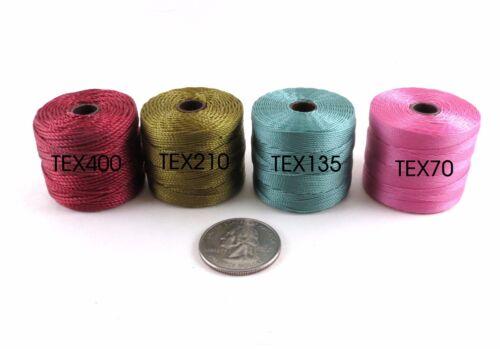 S-Lon Superlon Fine TEX 135 Twist Nylon Beading Crafting Cord 118 yd//spool