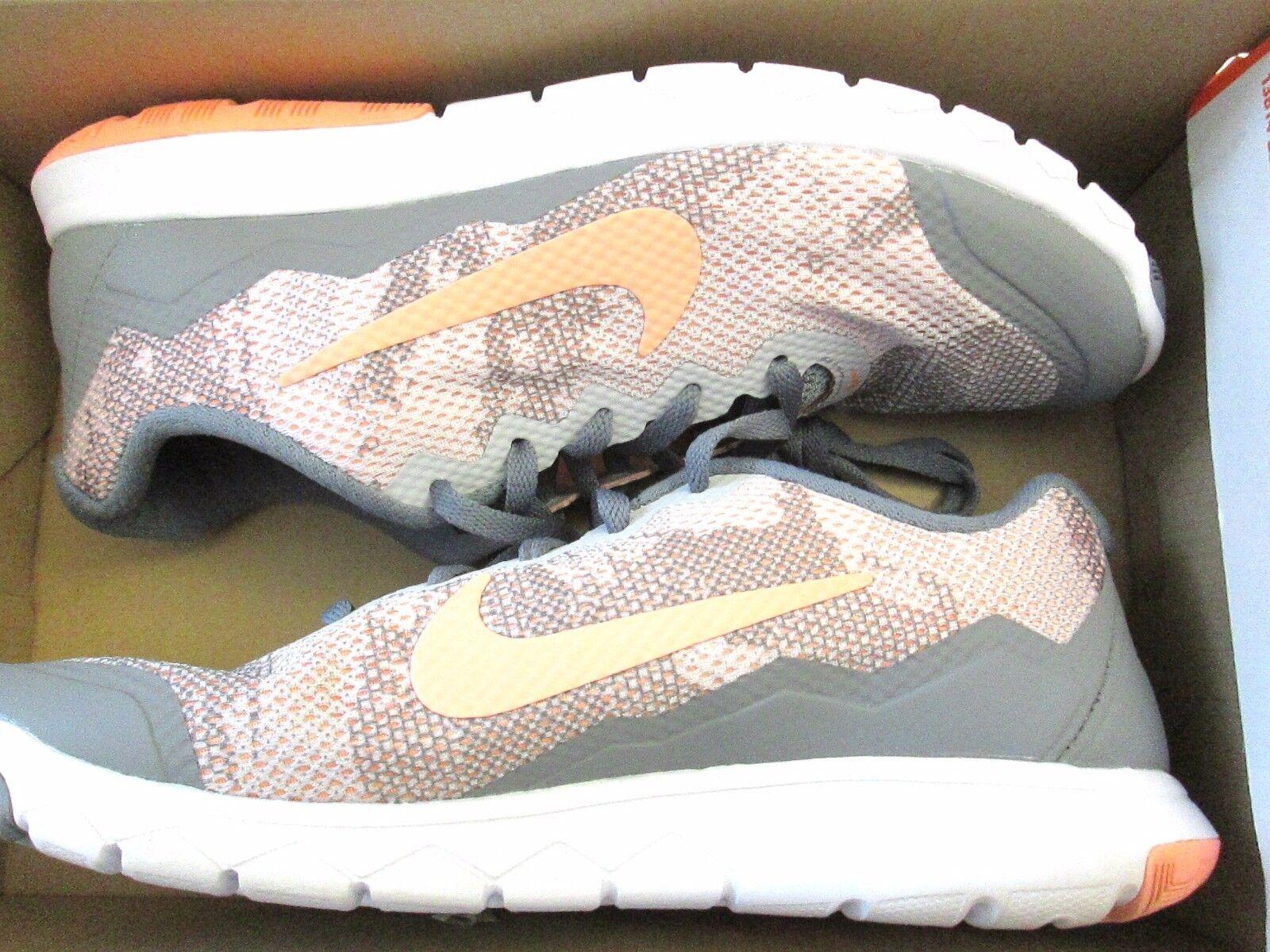 nike womens flex rn 4 prem rosa sportliche sneakers grau / rosa prem 749177 001 7 (6,5). f4733e