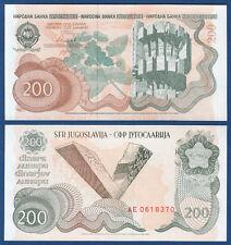 JUGOSLAWIEN / YUGOSLAVIA 200 Dinara 1990 UNC  P.102
