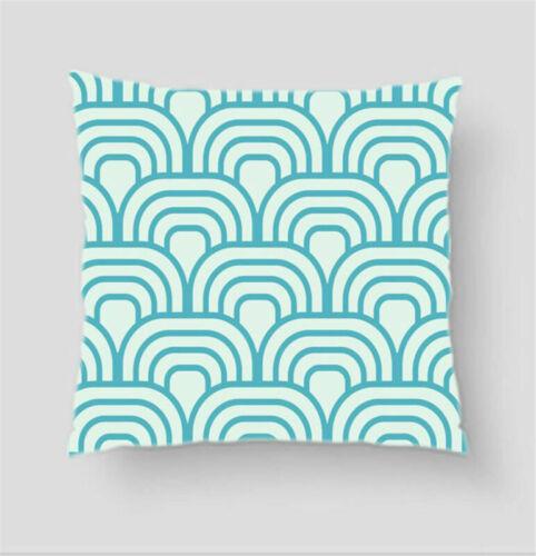 Blue Wave Simple Pillow Cases Sofa Car Waist Throw Cushion Cover Home Decor Gift