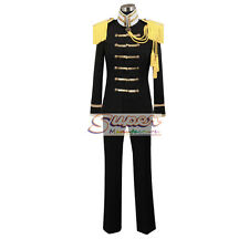 APH Hetalia: Axis Powers Japan Honda Kiku Black Unifrom Clothing Cosplay Costume