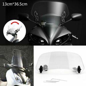 Universal Motorcycle Adjustable Clip On Windshield Extension Wind Deflector Usa Ebay