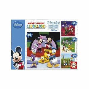 Puzzle-progresivo-Educa-15288-Mickey-Mouse-Clubhouse-4-puzzles-en-1-Disney