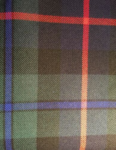 AUTHENTIC TARTAN FABRIC HEAVY POLYESTER VISCOSE DRAPES KILTS SOFT FURNISHINGS