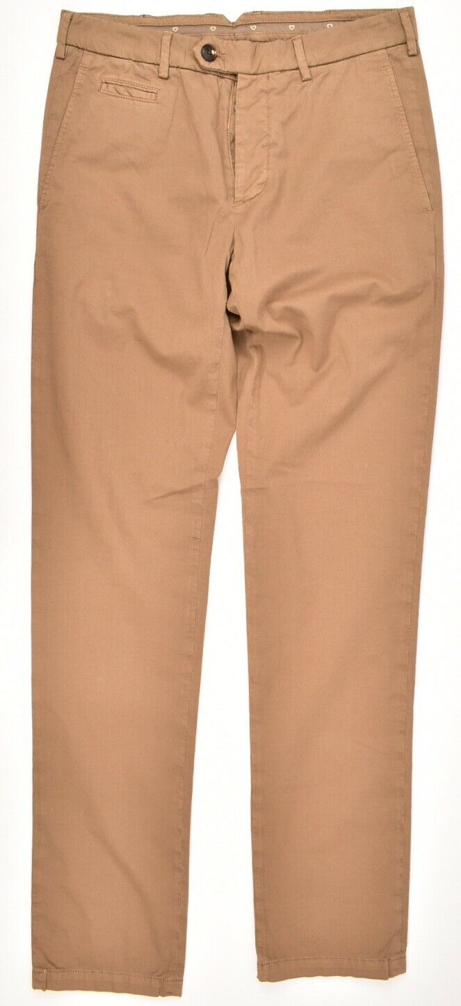 CRUCIANI Men's Casual Pants Trousers Khaki Slim Leg Größe W32