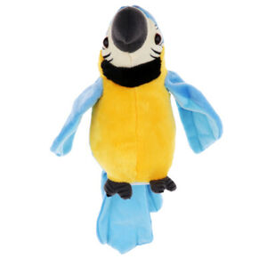 TALKING-PARROT-Repeats-What-You-Say-Electronic-Pet-Plush-Interactive-Toy-B