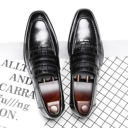 Details about  /Mens Oxfords Work Office Slip on Formal 44 Faux Leather Business Leisure Shoes L