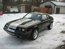 "1979 to 1993 Fox Body Mustang 10"" Plain Rally stripes Stripe Graphics GT LX"