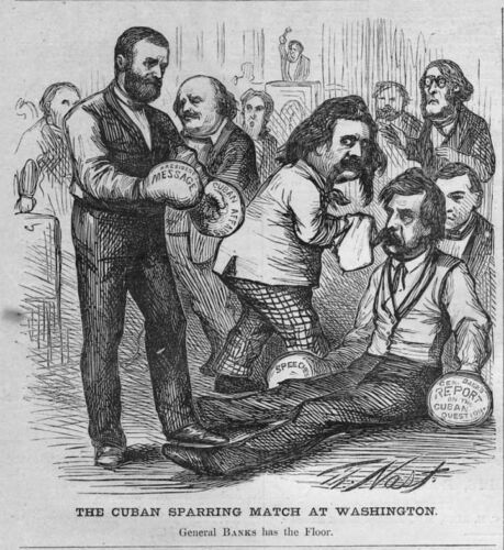 ULYSSES GRANT WITH BOXING GLOVES CUBAN SPARRING MATCH JOHN LOGAN CUBA HISTORY
