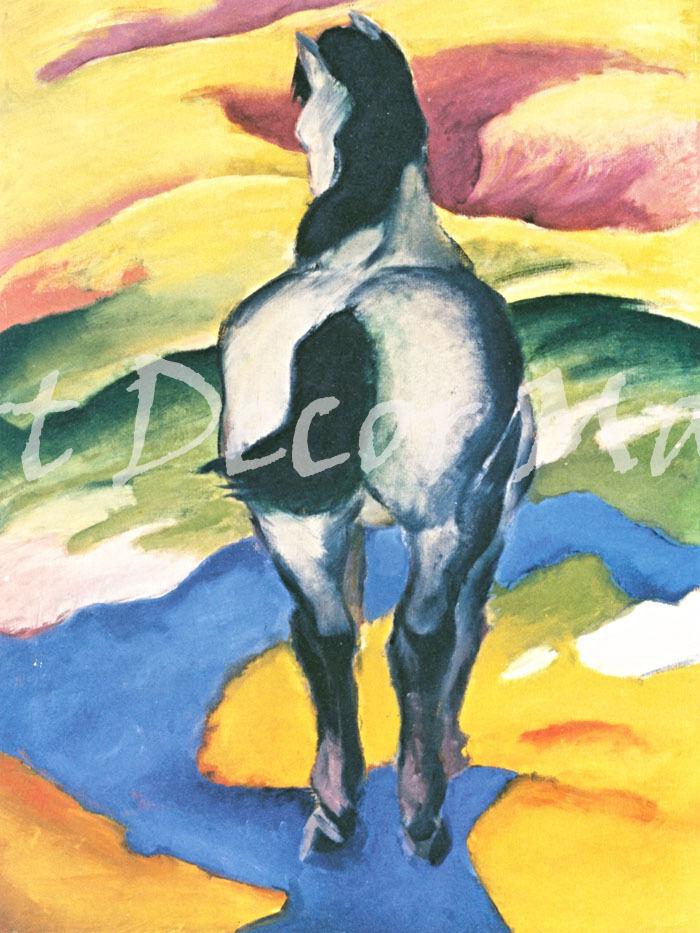 Blau Horse 2-Marc - - CANVAS OR PRINT WALL ART