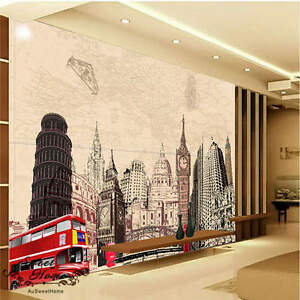 3d city red bus wallpaper portrait full wall mural photo printedimage is loading 3d city red bus wallpaper portrait full wall