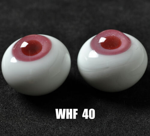 Nice Pink Iris/&Deep Pink Pupil 18mm Glass Eyes for Joint Reborn//newBorn BJD Dol