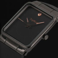 Fashion Black Ultra Thin Band Men's Sport Quartz Military Army Wrist Watch