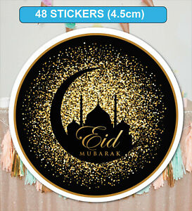 48-GLOSSY-MATT-Eid-Mubarak-Celebration-Stickers-Labels-for-Party-Bag-Seals