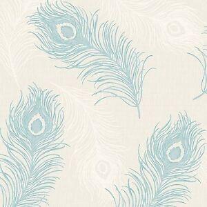 Image Is Loading Peacock Bird Feather Pattern Wallpaper Glitter Textured Blown