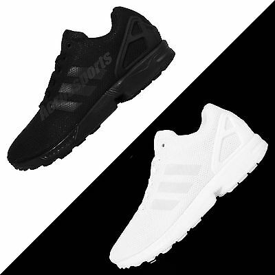 adidas Originals ZX FLUX Triple Black / White Running Shoes Sneakers Pick 1