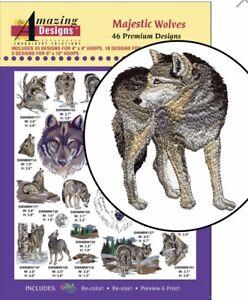 Amazing-Design-Majestic-Wolves-46-Premium-Designs-ADP-121-Brand-New-Sealed