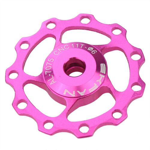PINK//ROSE COLOUR ALUMINIUM  11t EKFAN JOCKEY WHEEL UK SELLER.