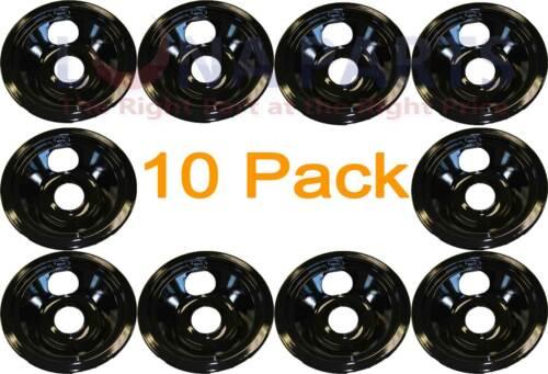 "10 Pack General Electric Range 6/"" Black Burner Drip Pan PM32X142 PM32X0142 8013"