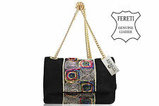 Borse Pelle Nero Leather Handbag Sac A Main Cuir Black Handtasche Leder Schwarz