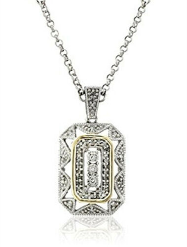Women/'s Popular Jewelry White gemstone Silver Yellow Pendant Chain Necklace