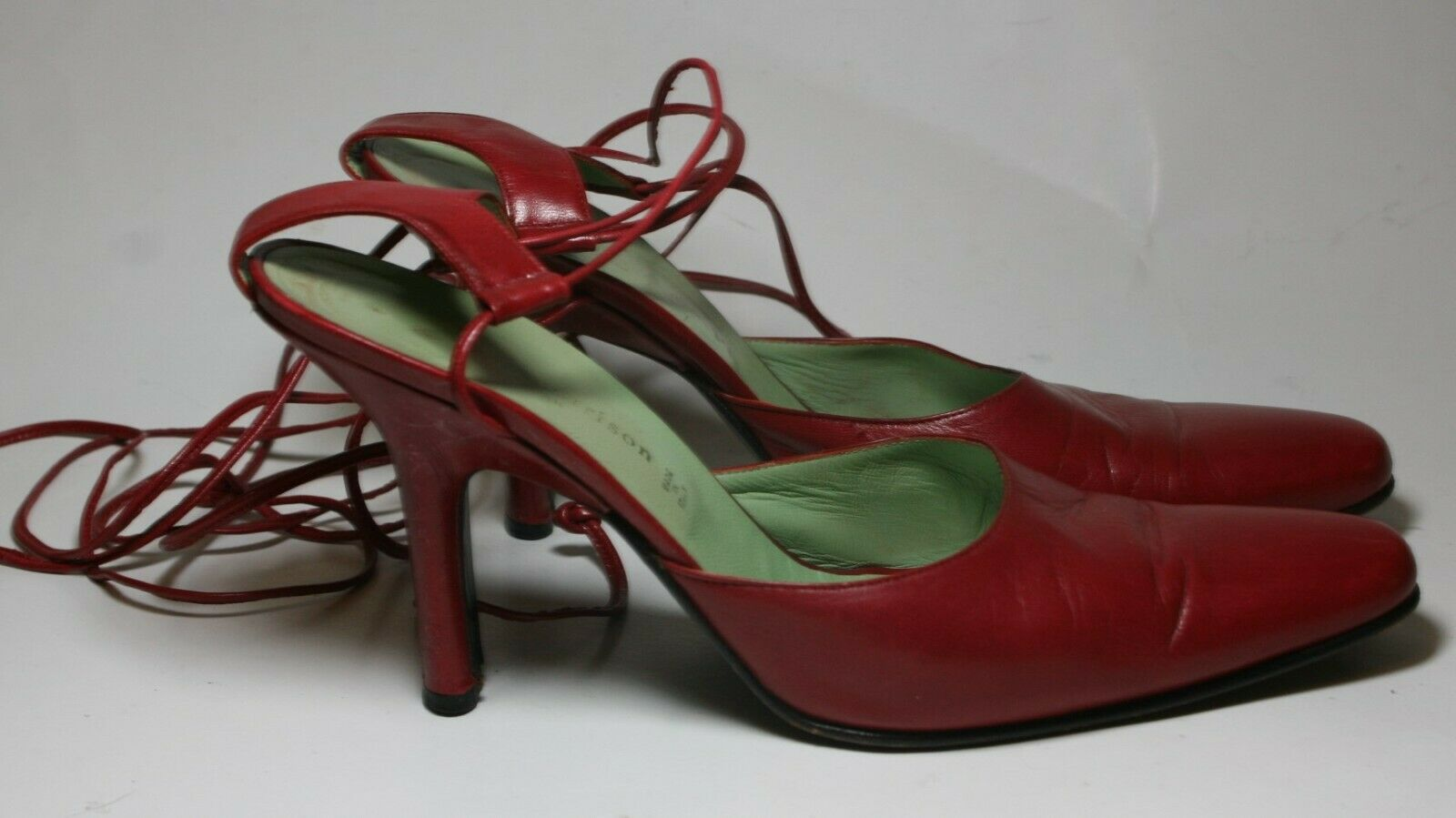 SIGERSON MORRISON SHOES RED LEATHER ANKLE WRAP PU… - image 3