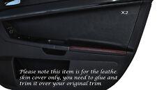 RED Stitch 2x FRONT DOOR CARD Trim pelle copertura Si Adatta Mitsubishi Lancer Evo X 10