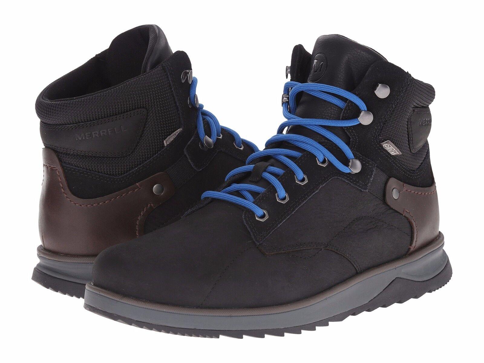NWT Men Merrell Epiction Mid Waterproof Boot Black Leather Sneaker Size 8 - 13