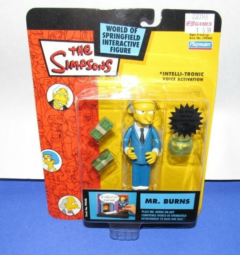 PLAYMATES THE SIMPSONS WORLD OF SPRINGFIELD SERIES 1  MR. BURNS  ALT. CARD
