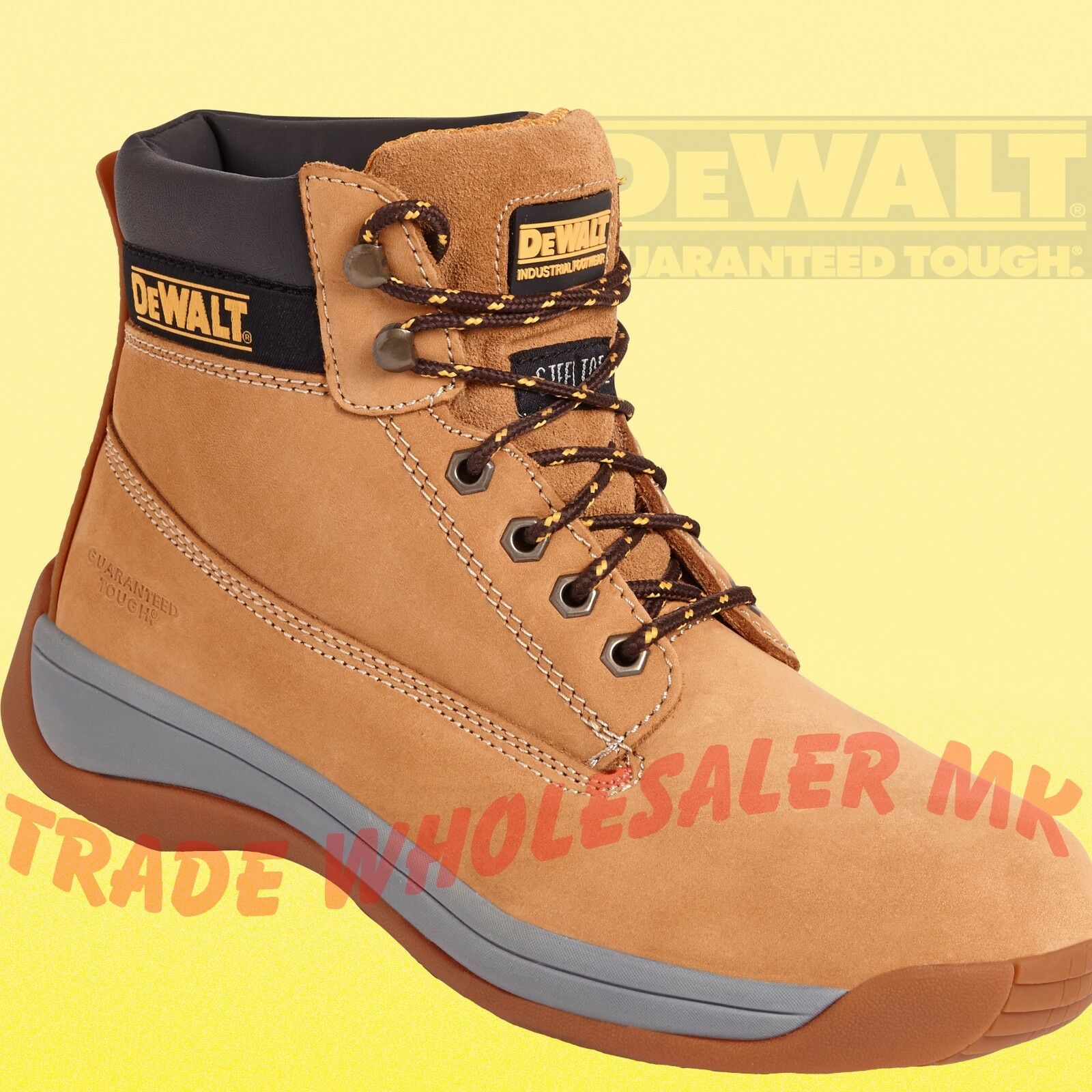 DeWalt Apprentice Honey Safety Boots work boots steel toecap UK sizes 5 - 12