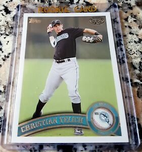 CHRISTIAN-YELICH-2011-Topps-Rookie-Card-RC-Brewers-Average-Power-Speed-HOT