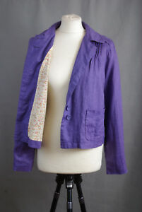 P319-23-Dickins-amp-Jones-Lavender-Linen-Lined-Cotton-Light-Jacket-size-12