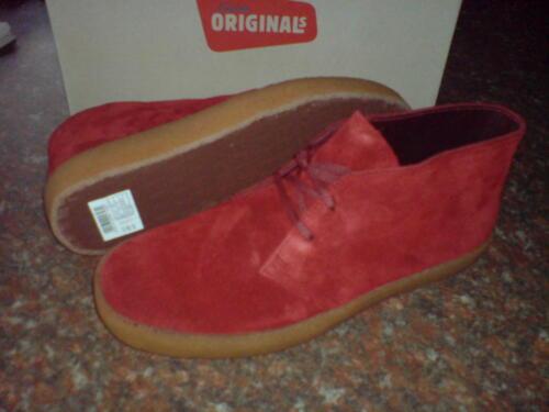 6 para Preston 5 True 6 Uk Original Suede Red hombre Boots Clarks 56xvUaaq