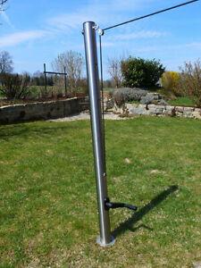Sonnensegelmast 70-130 cm höhenverstellbar Edelstahl Pfosten Sonnensegel B-Ware