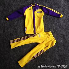 1/6 scale Lakers Kobe warm up sport suit Jacket Pants fit Enterbay Jordan Body