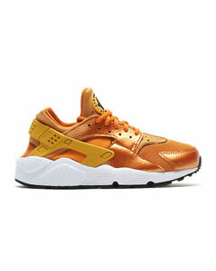 Nike Air Huarache Women sz 6 to 10 Sunset Gold 634835 701 black white orange red
