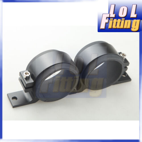 Anodised Dual Double Billet Bosch 044 Fuel Pump Bracket Sytec Walbro Black