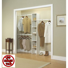 Closet Wardrobe Storage Rack Bedroom Kit 12 In White Custom Organizer Clothing