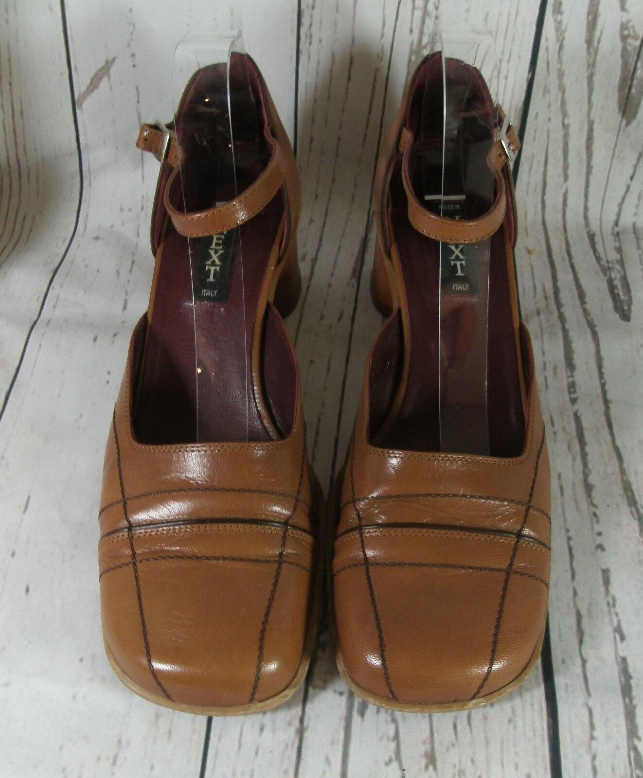 Vintage Next Tan Shoes Leather Mary Jane Style Shoes Tan c0d667