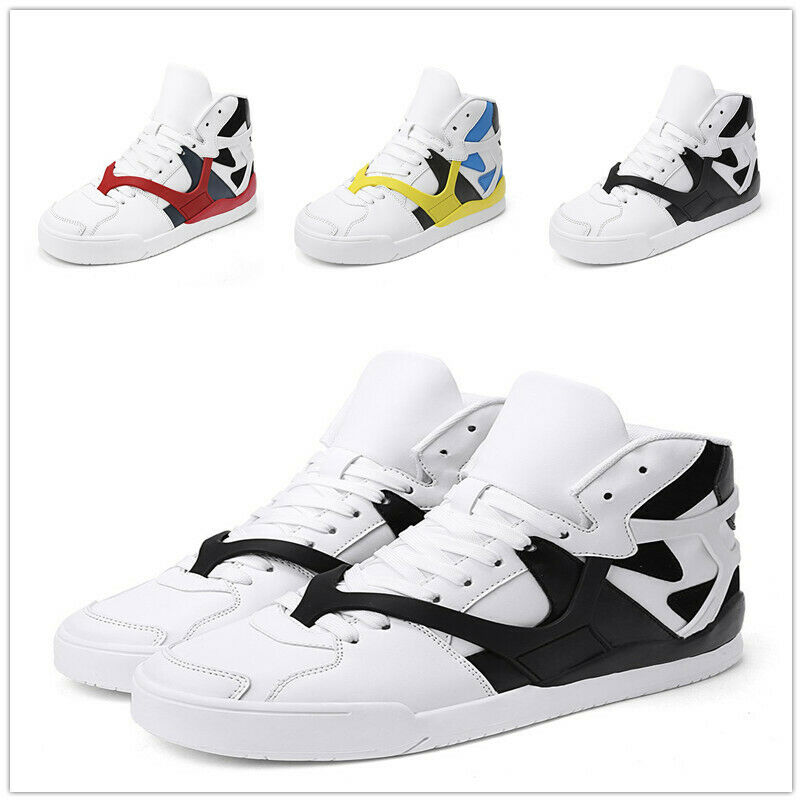 Mens Lace Up Basketball High Top Board Shoes Sport Sneakers Outdoor Casual New