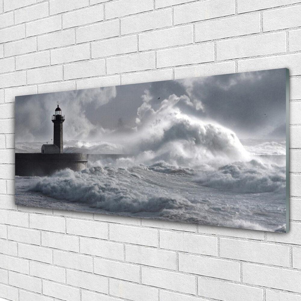 Acrylglasbilder Wandbilder aus Plexiglas® 125x50 Leuchtturm See Meer Natur