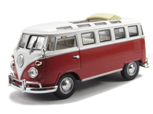 Volkswagen VW Microbus 1962 2-Tone Burgundy White 1:43 Model LUCKY DIE CAST