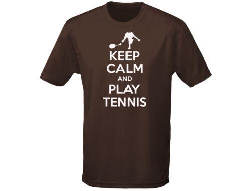 12 colori Mantieni la calma e giocare a tennis Funny Kids T-shirt unisex