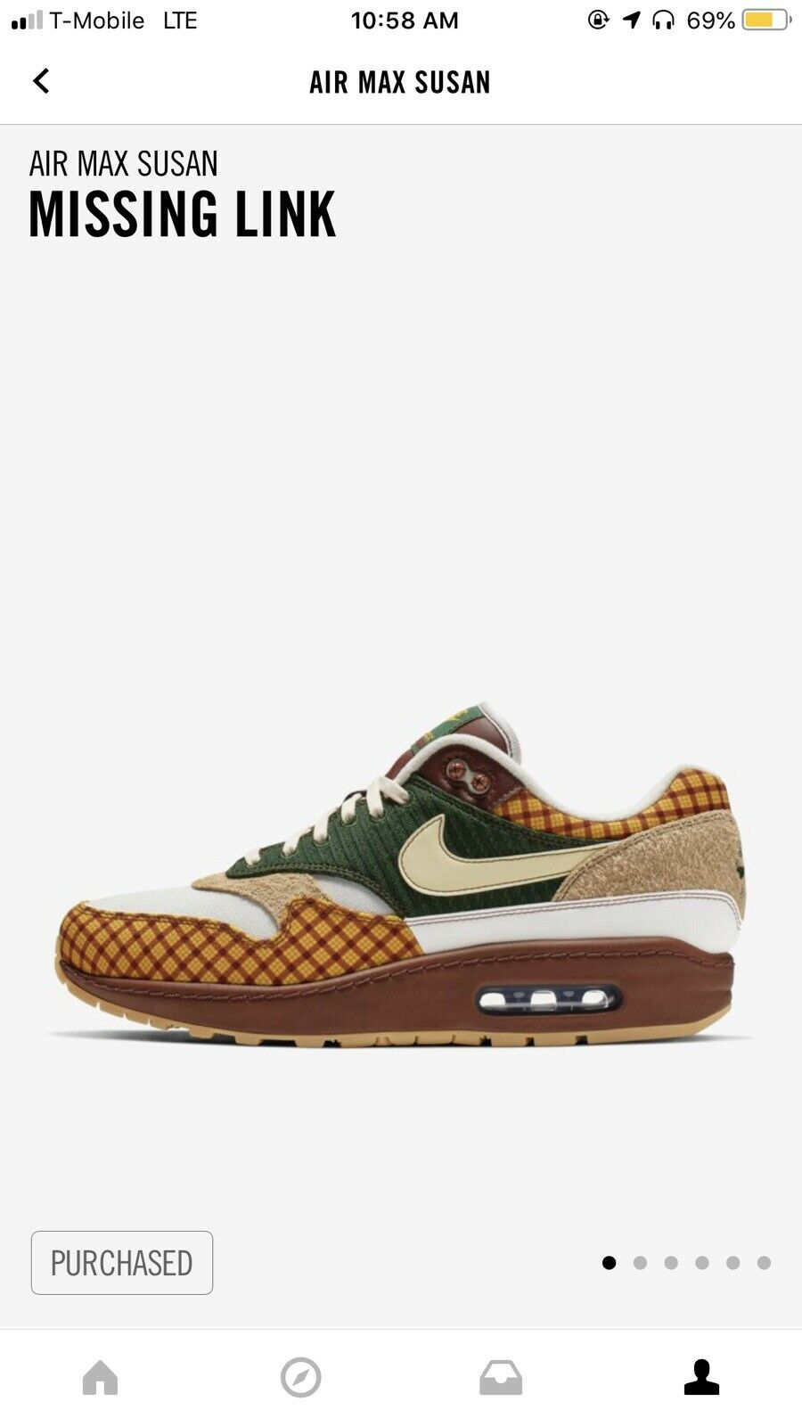 Air max 1 Susan Missing Link Size 9.5