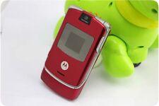motorola razr flip phone red. original motorola razr v3 100% unlocked cellular phone gsm 2017 free shipping razr flip red