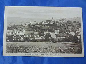 Alte PK AK 1919 Gelenau Erzgebirge Kirche Niedere Schule Turnhalle