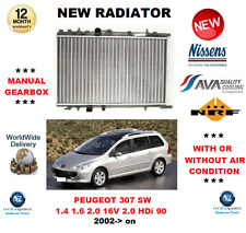 FOR PEUGEOT 307 SW 1.4 1.6 2.0 16V 2.0 HDi 90 2002  NEW RADIATOR ** OE QUALITY *